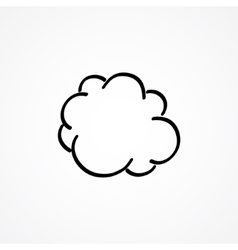 cloud hand-drawn vector image vector image