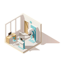 isometric low poly mammography room vector image vector image