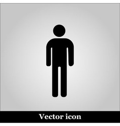 Man flat icon on grey background vector image