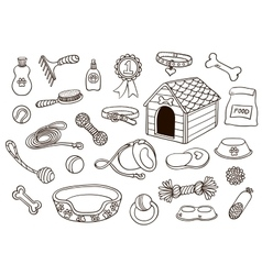 Set of accessories for dogs vector image