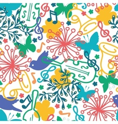 Spring music symphony seamless pattern background vector image
