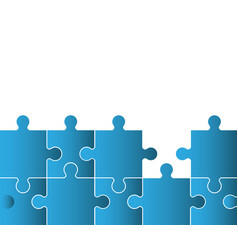 blue puzzle solution image vector image