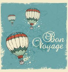 blue vintage travel background vector image
