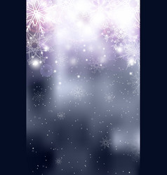 blurred silver christmas winter background with vector image