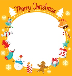 Christmas Ornaments and Decoration Border vector image vector image