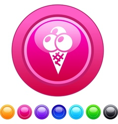 Icecream circle button vector image