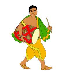 indian drummer vector image
