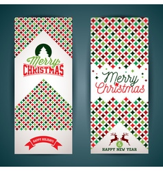 Merry Christmas greeting card with color texture vector image