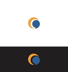 Moon speak ballon logo vector