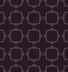 Seamless vintage background calligraphic ornament vector