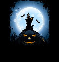 Grungy Halloween Card vector image