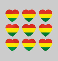 heart with the flag of bolivia i love bolivia vector image