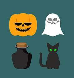 Set of icons for Halloween Symbol dreaded holiday vector image