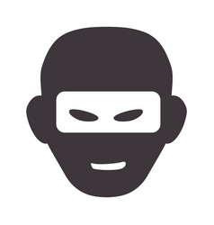 Thief with mask dangerous symbol vector