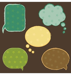 Vintage Speech Bubbles With Stars vector image vector image