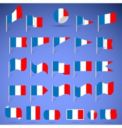 flags of france vector image vector image
