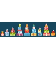 Stacks of gift boxes vector image