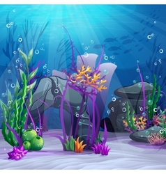 The underwater world vector