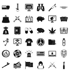 washing money icons set simple style vector image vector image