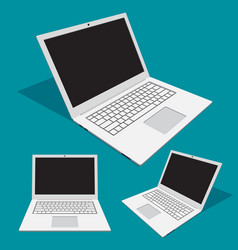 3d abstract laptop with different angles vector image