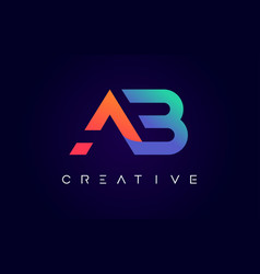Ab logo letter design with modern creative vector