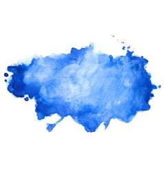 Abstract blue watercolor stain texture background vector