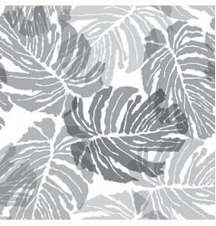 Abstract seamless pattern floral jungle palm vector