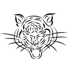 Abstract tattoo tiger vector image