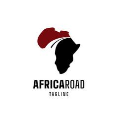 African road logo vector