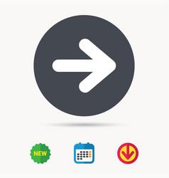 arrow icon next navigation sign vector image