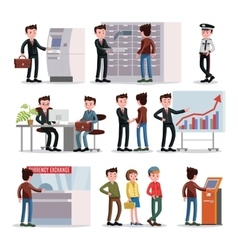 Bank People Set vector image