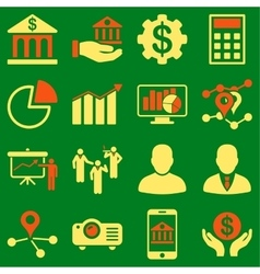 Banking business and presentation symbols vector