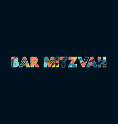 bar mitzvah concept word art vector image