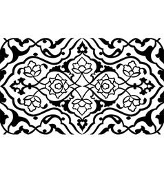 Black artistic ottoman pattern series fifty six vector