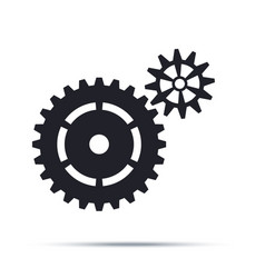 Black cogwheels icon flat design element vector