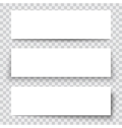 blank sheet paper with vertical banner and vector image