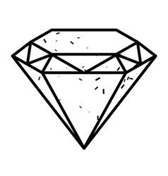 Cartoon image of diamond icon diamond symbol vector