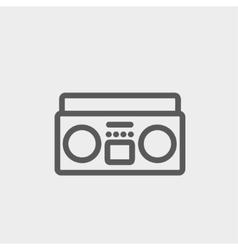 Cassette player thin line icon vector image
