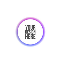Circle banner for web interface or print vector