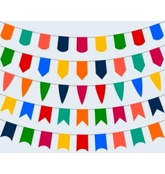 collection festive decorative flags for the vector image