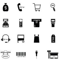 commerce icon set vector image