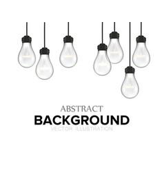 creative design nature lamps vector image