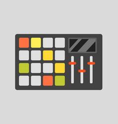 creative modern musical instrument concept midi vector image