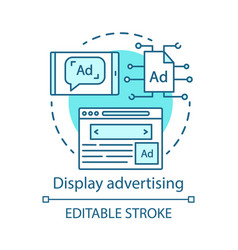 Display advertising blue concept icon online vector