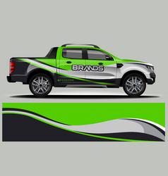 Double cabin truck wrap design wrap sticker and vector