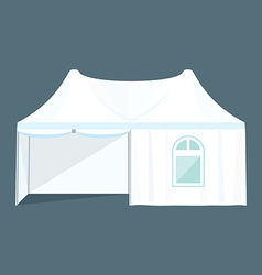 Double folding tent marquee vector