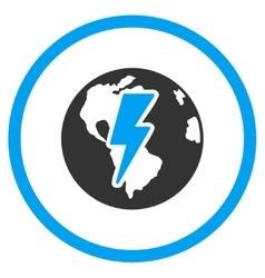 Earth Shock Icon vector