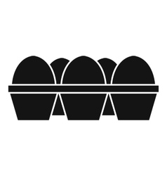 Eggs in carton package icon simple style vector