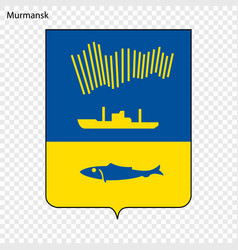 Emblem of murmansk vector