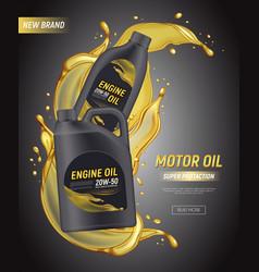 Engine oil splashes poster vector